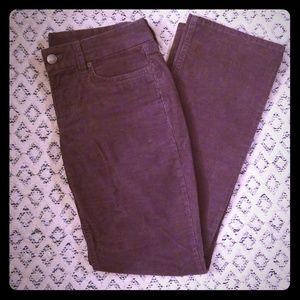 Gray Straight Leg Corduroy Pants